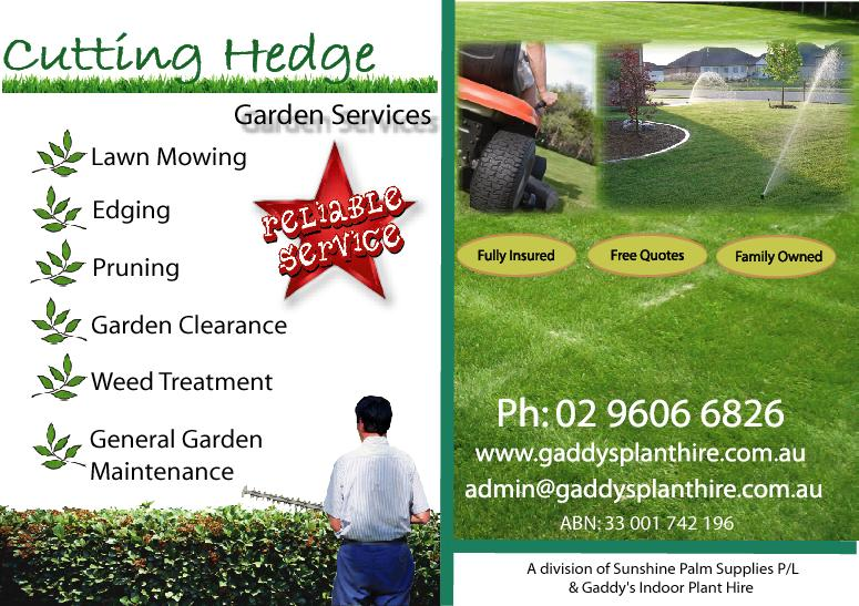The gallery for lawn service flyers for Garden maintenance flyers